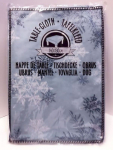 Weihnachten Tischdecke 140x180cm grün/bläulich mit Schneeflocken Nr.02