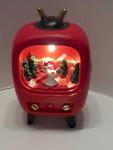 Weihnacht Dekoration mit LED - TV mit Schneemann - 15309