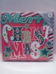 10x Weihnachtskarten Folienprägung 13x13cm mit Kuvert 15078
