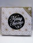 10x Weihnachtskarten Folienprägung 13x13cm mit Kuvert 15075
