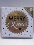 10x Weihnachtskarten Folienprägung 13x13cm mit Kuvert 15074
