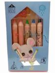 Depesche House of Mouse 5x Buntstifte verschiedene Farben plus Spitzer 14604