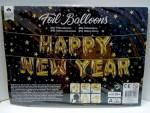 Luftballon Folienballon Happy New Year Girlande Gold