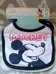 2x Baby Lätzchen Disney Mickey Maus Blau 100% Baumwolle #15957