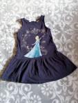 H&M Trägerkleid Frozen Elsa Mädchen in Blau Gr.98/104 #15832