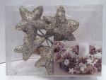 Weihnachten Dekoration 6x Sterne für Adventskranz Gold Nr.02