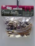 Weihnachten 30x Dekoration Glocken mit Seil in Silber bzw. Gold Nr.02