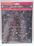 Weihnachten Glitzer Sticker Stickerbogen ca. 35 Aufkleber Nr.02