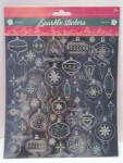Weihnachten Glitzer Sticker Stickerbogen ca. 35 Aufkleber Nr.01