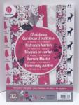Grafix Weihnachten Kartonpapier mit Muster 32 Bögen 8 Design 10,5x4,8cm Nr.03