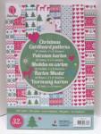 Grafix Weihnachten Kartonpapier mit Muster 32 Bögen 8 Design 10,5x4,8cm Nr.02