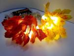 Indoor Lampenkette 100cm 10x Herbst Blätter LED