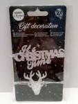 Weihnachten Geschenke Dekoration 2x Silberfarben Nr.03