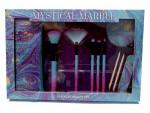 Mystical Marble 10tlg. Beauty Set Kosmetik Pinsel Spiegel Nagelfeile Tasche
