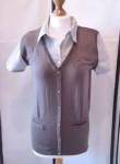 FLASHLIGHTS Bluse + Strickweste Damen 2 in 1 Look