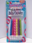 Kerzen Geburtstagskerzen Tortenkerzen bunt 12 Stück