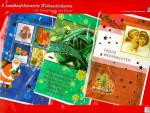 Set 6 verschiedene Weihnachtskarten mit Kuvert Folienprägung