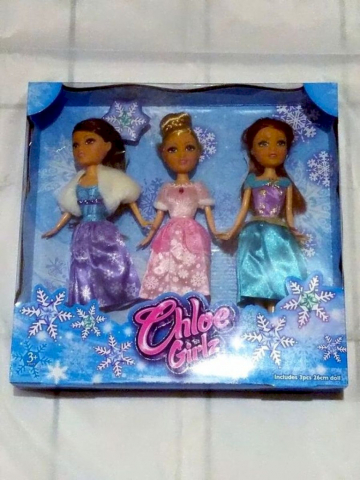 Puppen Chloe Girlz 3x Modepuppe 26cm Winter Princess Kollektion