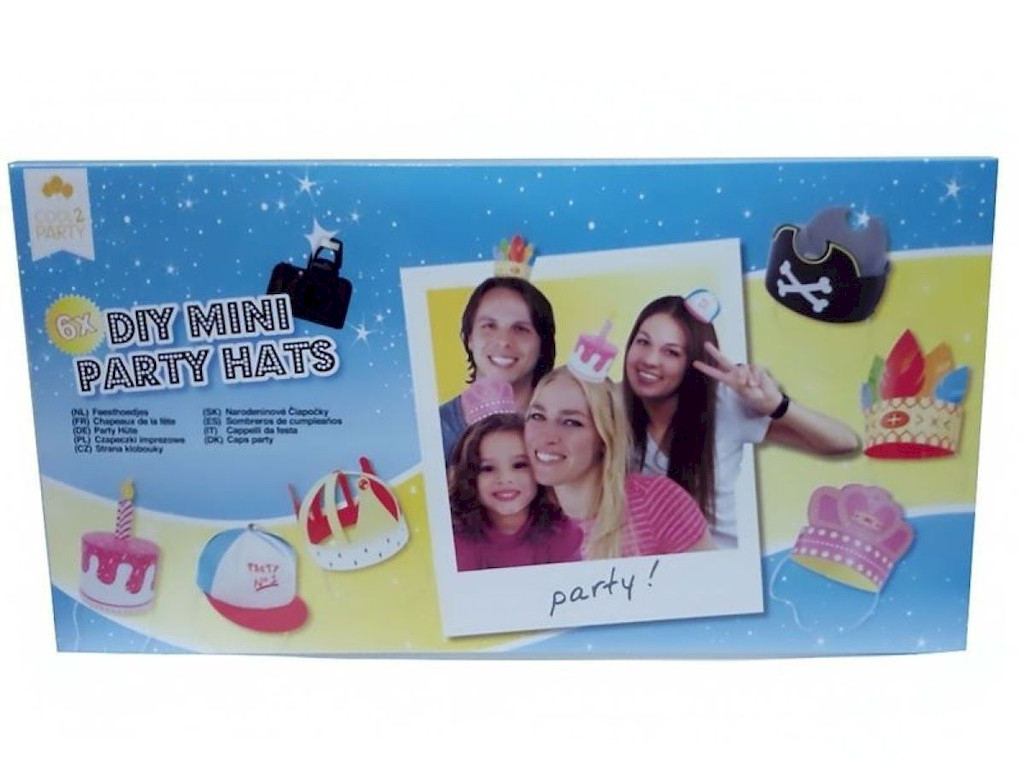 Foto-Requisiten 6x DIY MINI Party Hüte Nr.03