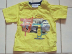 Kids and Friends T-Shirt Jungen Kroko-Motiv Gelb Gr.68