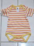 Body Unisex Kurzarm Weiß/Gelb/Orange gestreift Gr.62