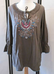 Early 20 Shirt Tunika Damen khaki Gr.40/42